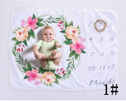 Printed backdroPs online shopping - Lovely cloth mat baby lay for fabric backdrops fleece floral deers soft blankets newborn photography background swadding