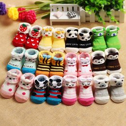 Discount newborn gift sets for girls - 12Pcs set clothing Cartoon Lovely Cotton Newborn Baby Girls Boys Dispensing anti-slip Socks Slipper Shoes Boots for baby