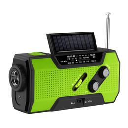 FORNORM Radio-réveil solaire auto-alimenté 4-LED Lumière solaire à manivelle 2000 mAh Puissance 3AAA Batterie pour NOAA