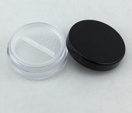 Nouveaux pots cosmétiques 100pcs / lot 20g avec tamis à poudre et couvercle à mailles avec bouffée de poudre boîte vide contenant en pot contenant le maquillage SN2175 en Solde