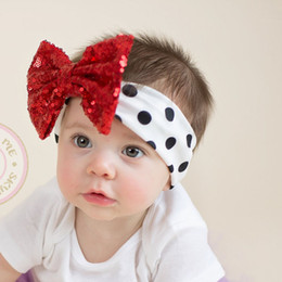 80ab2f0d7053e Girls white hair bows online shopping - New Baby girls Bow sequin headbands  Kids shiny bowknot