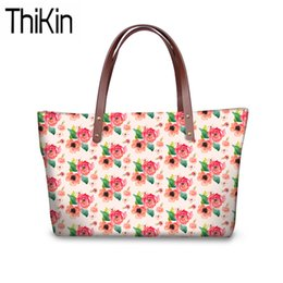 Large Floral Bag Canada - THIKIN Women Top-Handle Bags for Wallets Floral 3D Printing Shoulder Messenger Bags Ladies Large Capacity Hand Tote Bolsa