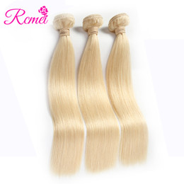 China Rcmei Brazilian 613 Blonde Virgin Straight Human Hair 3 Bundles Unprocessed Hair Extension #613 Brazilian Straight Human Hair 3 Bundles Lot supplier unprocessed virgin blonde hair wholesale suppliers