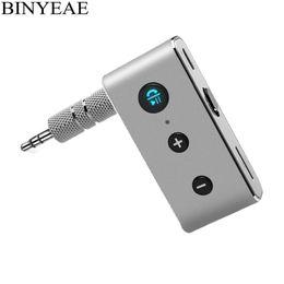 0356d724f1c Binyeae супер мини портативный Bluetooth V4.1 handsfree автомобильный  комплект беспроводной аудио приемник AUX авто музыка адаптер для мобильного  телефона
