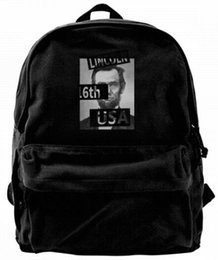 $enCountryForm.capitalKeyWord UK - Lincoln I'm not really a fan of the theater Canvas Best Backpack Unique Camper Backpack For Men & Women Teens College Travel Daypack