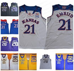 9f0a2c0e1 NCAA Kansas Jayhawks 25 Ben Simmons 21 Joel Embiid 20 Markelle Fultz City  Edition College Basketball Jersey Stitched