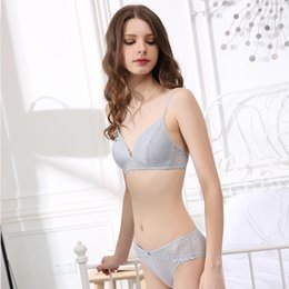 1690ca8e80 Simple Underwear Bra Set Australia - CINOON Brand Sexy Lace Lingerie Simple  Comfortable Thin Cotton Cup