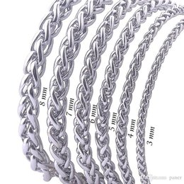 Stainless Chains Australia - Wholesale- Free Shipping Stainless Steel Men Necklace Chain 3 4 5 6 7 8MM Link Chain Men Necklaces High Quality Never Fade