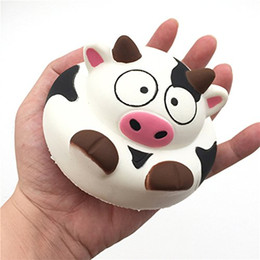 Discount cow apple - Jumbo Squishy Kawaii Cream Scented Squishies Slow Rising Decompression Squeeze Toys Children Simulation Cute Cow Toys wh