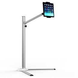 Floor Stands For Tablets NZ - UP-6 Height Adjustable Mobile Phone + Tablet Floor Stand Aluminum Alloy Rotation Lazy People Holder for iPad Air Mini 7-10 inch