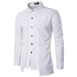 Wholesale casual shirt designs england resale online - England Style Fashion Uk Design M xl Men S Shirts Full Sleeve Pure Color Casual Young Boys Tops Slim Fit