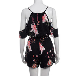 $enCountryForm.capitalKeyWord Australia - Cotton Summer Rompers Women Casual Playsuit Fashion Bohemian Floral Printed Jumpsuit Ladies Off Shoulder Bodysuit Jumpsuits Female