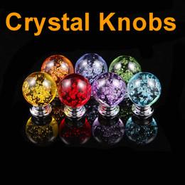 $enCountryForm.capitalKeyWord Australia - 30mm Bubble ball Crystal Glass Door Knobs Drawer Cabinet Furniture Handle Pull Knob Screw Furniture Accessories