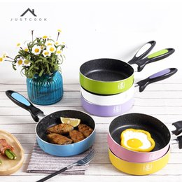 Steel Induction Canada - Justcook 16 Cm Breakfast Non -Stick Frying Pans Eggs Pancake Maker No Oil -Smoke Pan General Use For Gas And Induction Cooker