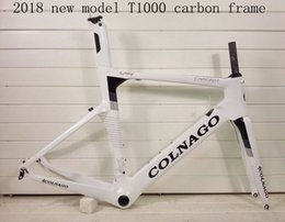 Carbon raCing biCyCles online shopping - 2018 NEW colnago concept T1000 UD carbon full carbon road bike frame racing bicycle frameset white black color sell wheels