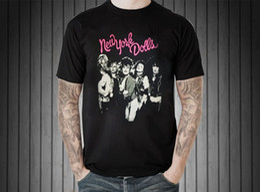 Music Man T Shirt Australia - New York Dolls Vintage Retro Men T-Shirt Us Glam Hard Metal Punk Rock Music Band Men's Fashion Short Sleeves Cotton Tops