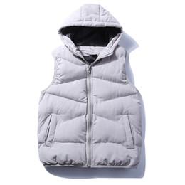 $enCountryForm.capitalKeyWord Canada - Fashion Men vest Casual thick Winter Autumn padding waistcoats menswear Padding with stand collar and elastic cuff