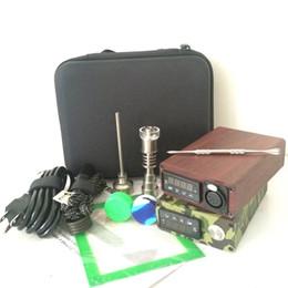 $enCountryForm.capitalKeyWord NZ - Colorful portable Titanium Quartz ENAIL E Dab Nail kit PID Temperature Control box Wax Vaporizer 14 18MM Oil Rig Box Glass Bong