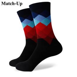 $enCountryForm.capitalKeyWord NZ - 2016 new men colorful combed cotton socks Diamond styles,geometric socks,US size(7.5-12) 361