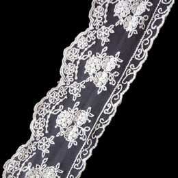 sewing supply lace Canada - Net embroidery lace Width.about 8 cm both edge white trims DIY Household supplies sewing decorative accessories DL_LAT024