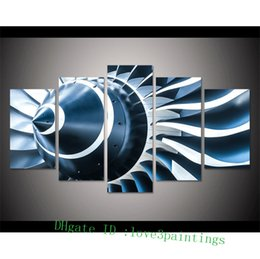 $enCountryForm.capitalKeyWord Australia - Jet Engine Turbine Blade,5 Pieces Home Decor HD Printed Modern Art Painting on Canvas (Unframed Framed)
