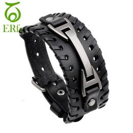 7 Fotos Compra Online Anchos cinturones negros para mujer-ER punk genuino  ancho negro pulsera de cuero 7f5e9572a2b8
