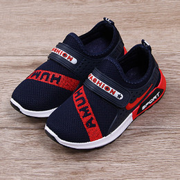 Kids Anti Slip Shoes Canada - 2018 New Children's Sneakers Running Shoes Soft with Air Anti Slip Sole Fashion Boys Shoes Black Sports Shoes for Kids