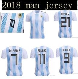 2018 world cup Argentina Soccer Jersey 2018 Argentina Home Blue soccer  Shirt Messi Aguero Di Maria football uniform b43fa753b
