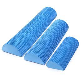 $enCountryForm.capitalKeyWord Australia - 30cm 45cm 60cm Half Round EVA Foam Yoga Roller Blocks Pilates Fitness Gym Exercise Yoga Blocks Massage Float Balance Column Blue