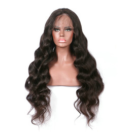 $enCountryForm.capitalKeyWord Australia - Premier Glueless Lace Front Wigs With Natural Hairline Indian Remy Hair 150% Density Body Wave For American