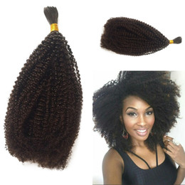 Brazilian Kinky Curly Braiding Hair UK - Mongolian Bulk Hair Afro Kinky Curly Bulk For Braiding Human Hair Extensions 8-26 Inch In Stock FDSHINE
