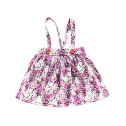 $enCountryForm.capitalKeyWord UK - Baby Girls Dress INS Summer Fashion Vintage Floral Flower Printed Strap Dress Suspender Skirt Girls Clothes Kids Clothing Free Shipping 236