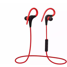 Iphone Stereo Player Australia - Bluetooth Headphones Sport Wireless Headset Hook Stereo Music Player Neckband Earphones For Iphone 7 With Retail Box by ottie