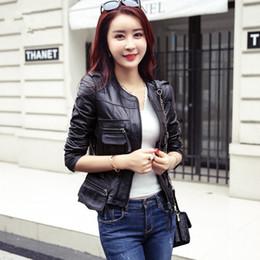 0afb1423e81df Vintage PU Leather Jacket Women 2017 Faux Leather Jackets Black Zipper Jackets  Winter Biker Motorcycle Jacket Woman Coat
