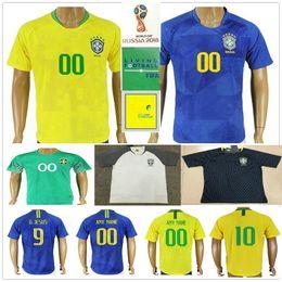 $enCountryForm.capitalKeyWord Australia - 2018 World Cup Soccer Jersey PELE G.JESUS P.COUTINHO MARCELO RONALDINHO COUTONHO CASEMIRO FAGNER ALISSON Customize Home Away Football Shirt