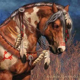 $enCountryForm.capitalKeyWord NZ - Free shipping diamond painting horse oil painting 5d Gorilla painting kit Full Paste Square Cross Stitch Home Decoration Paintings