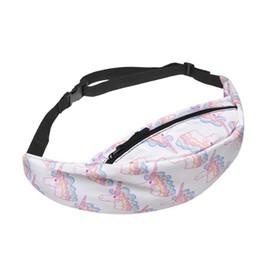 $enCountryForm.capitalKeyWord UK - Cute Unicorn Pattern Waist Pack Bags Pouch Pocket Chest Shoulder Bag Waist Packs Pouch For Ladies Sport Running Fashion Belt Bag