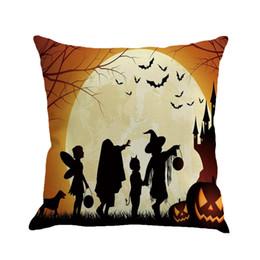 $enCountryForm.capitalKeyWord UK - NEW Happy Halloween Castle pumpkin throw pillows 45cm*45cm European Style Cushion covers  Pillowcase Decorative Pillow