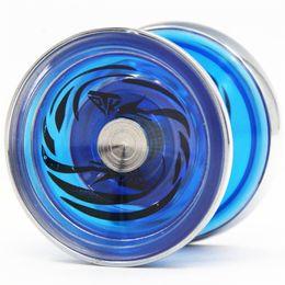 Ingrosso YOYO TPK cristallo ghiaccio Phoenix yoyo V5 anello metallico CNC Yoyo per giocatore professionale yo-yo Metallo e materiale plast Giocattoli classici