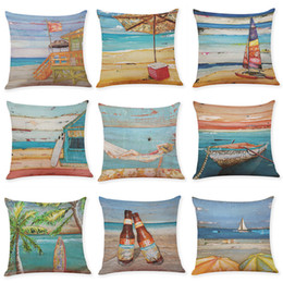 Scenery Series Cushion Cover Beach Forest Sunrise Cushion Cover Coconut Tree Throw Pillow Sofa Decorative Pillows Cover Cojines Home & Garden Home Textile