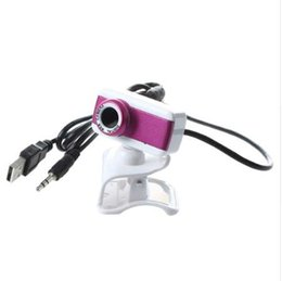 Wholesale USB HD Webcam Camera P With miniphone for Computer Desktop PC Laptop Rose