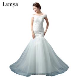 $enCountryForm.capitalKeyWord UK - wholesale Lace Mermaid Vestido De Noiva 2018 Sweatheart Court Train Wedding Dress Fashionable Romantic Bridal Gown WD3082