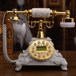 EuropEan tElEphonE antiquE online shopping - Antique telephone European retro telephone white old Chinese antique home fashion telephone landline