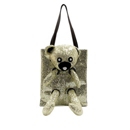 $enCountryForm.capitalKeyWord Canada - Tote bag new personality female bag tide European and American fashion sequins bear slung shoulder portable big bag