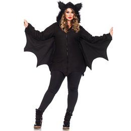 anime vampire achat en gros de-news_sitemap_homeBatwoman Femmes Bat Costume Animal Cosplay faux fourrure oreille Manteau Manteau avec Zipper Halloween Vampire démon Masquerade Party