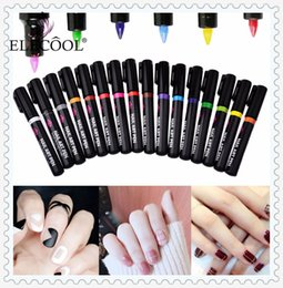 Discount black white line painting - ELECOOL 1Pc Optional 3D Liquid Gliter Decoration Pull Pen Point UV Gel Design Painted Nail Art Line Pen More engage TSML