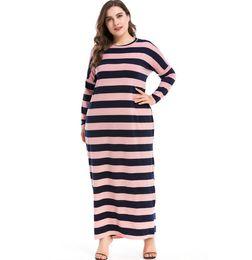 dad9664d7c NEW Muslim Maxi Dress Knitted Cotton Abaya Middle East Long Robe Gowns  Moroccan Dubai Ramadan Arab Worship Islamic Paryer Clothing 2 Colors