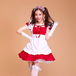 Sexy Anime role-playing cartoon Akihabara Lolita Princess Apron Dress Maid Outfits Meidofuku Uniform Cosplay Costume Free Shipping