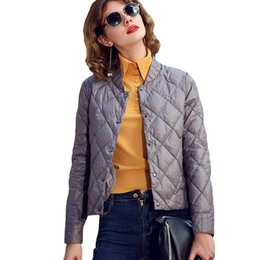 pink down coats for women Canada - Spring Winter Short Thin Down Jackets For Women Lady Ultra Light Parka Outerwear Female 90% White Duck Down Coat Y1731