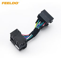 feeldo 36pin male connector adapter to 40pin female car head unit stereo  quadlock wiring harness for volkswagon car head unit audio #1136